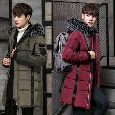 image is loading winter mens down coat cotton padded fur hooded