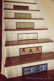 Painted Stairs Painted Stairs Stair Risers I Am In Love With This Burgundy