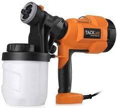 tacklife sgp15ac advanced electric spray 800ml min paint sprayer with three spray patterns