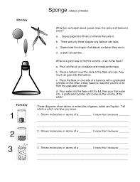 States of matter (Worksheet 8)