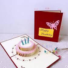 Usd 698 Creative Birthday Card 3d Birthday Cake Three Dimensional