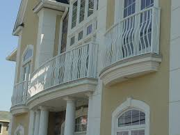 Wrought Iron Color Outdoor And Patio Iron Balcony Railing In Black Color Also White