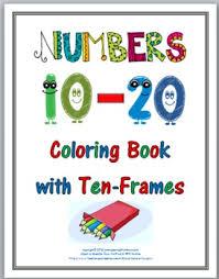 ten frames coloring book numbers 11 20