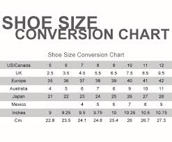 Shoe Size Chart Us To Mexico Shoe Size Chart Rebelwithcause