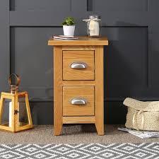 cheshire oak slim 2 drawer bedside