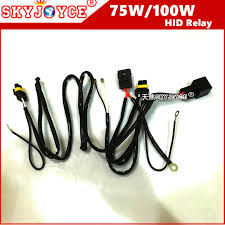 40a 75w wire relay wire harness for spotlights hid drive work light HID Light Wiring at 55w Hid Wiring Harness