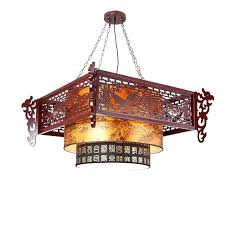 antique wood chandelier 5 light candle style