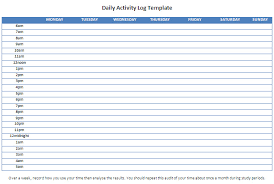 Free Daily Activity Report Template Excel 3 Reinadela Selva