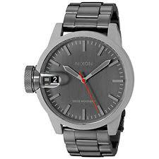 nixon watches nixon mens a4412220 chronicle 44 analog display swiss quartz grey watch