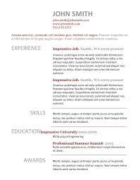 Best Resume Templates Madinbelgrade