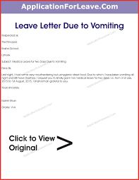Inspirational Absence From School Letter Job Latter