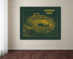 Print Of Vintage Lambeau Field Seating Chart Seating Chart On Photo Paper Matte Paper Or Canvas