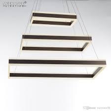 Square Led Pendant Light Newest Led Pendant Lights 3 Rectangles Modern Pendant Lamp For Living Dining Room Led Lustre Drop Luminaires Lighting