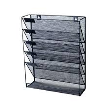 wall mounted office organizer system. Wall Mount Office Organizer Files Mounted Mesh Paper Craft Rack Holder Paperwork System