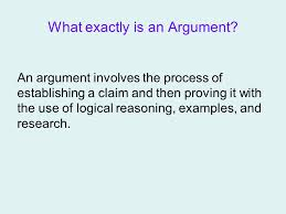 the argumentative essay what exactly is an argument an argument  what exactly is an argument