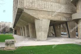 Massive Concrete Stilts Supporting Le Corbusiers Le Cite Editorial