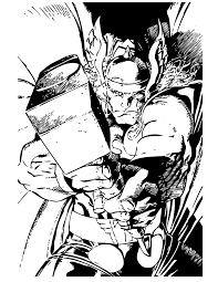 Small Picture Marvel Comics Thor Superhero Coloring Page H M Coloring Pages