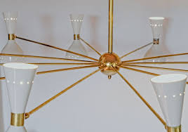 twelve arms natural patina brass chandelier ivory pivoting heads twin bulbs