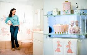 pretty bathrooms photos. nancy burns plays up the bathroom in her 1959 split-level house fairfax, va., with poodle decorations and a vintage scale. \u201cpink makes you happy,\u201d she pretty bathrooms photos