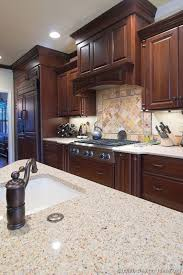 kitchen ideas cherry cabinets. #Kitchen Of The Day: Dark Cherry Cabinets, Matching Refrigerator Panels, A Decorative Kitchen Ideas Cabinets S