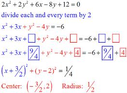 circle equations mathbitsnotebook geo