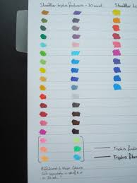 Staedtler Triplus Color Chart Staedtler Triplus Fineliners A Review Colouring In The
