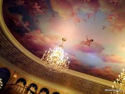 the hand painted ceiling in the ballroom takes your breath away