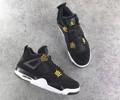 jordan 4 retro. air jordan 4 retro royalty black metallic gold white