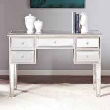 Console Tables, White Small Mirrored Console Table With 5 Drawers On White  Rugs Ideas ~