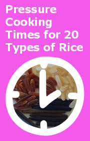 Pressure Cooker Rice Chart How Long Does It Take To Cook Rice In A Pressure Cooker