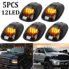 Pickup Roof Lights Details About 5x 12led Amber Smoked Suv Rv Truck Pickup 4x4 Cab Roof Top Running Marker Lights