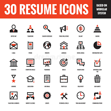 Resume Icons Awesome 7522 24 Resume Creative Vector Icons Based On Modular System Set Of 24