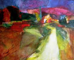provence entrance to the village abstract