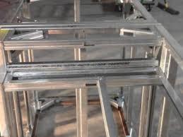 diy metal frame outdoor kitchen