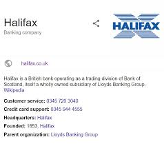 halifax bank contact number halifax contact information