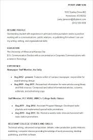 Resume Examples For College