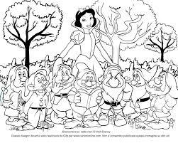 Sfoglia 20 Biancaneve E I Sette Nani Da Colorare Per Bambini
