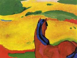 horse in a landscape by franz marc painting oil on canvas high quality hand painted abstract