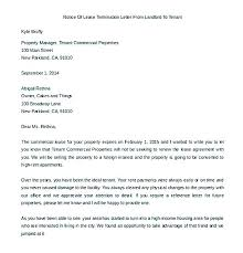 Landlord Rental Lease Termination Letter Sample. Landlord Tenancy ...
