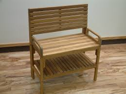 teak shower chair with arms