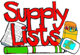 Image result for supply list template