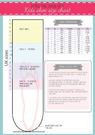 Printable Shoe Size Chart Shoe Size Chart Kids Baby Size