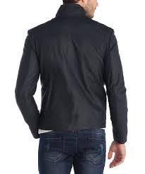 Sir Raymond Tailor Navy Leather Jacket Zulily