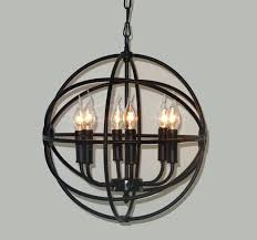 wrought iron sphere chandelier lighting restoration hardware vintage pendant lamp within iron orb chandelier decorations 1