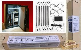 Battery Powered Lights For Gun Safes Strips 6 Gun Safe Light Kit Motion Activated Full Length