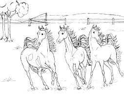 Coloring Pages Of Horses Horse Herd Coloring Pages Horse Herd