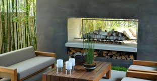 interesting outdoor contemporary outdoor fireplace ideas in modern v