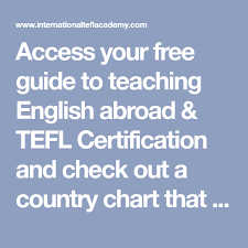 Access Your Free Guide To Teaching English Abroad Tefl