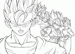 Dragon Ball Z Vegeta Coloring Page Az Pages Dcamrbi Adult