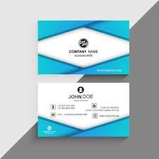 Beautiful Colorful Blue Business Card Template Background